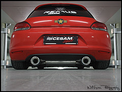 "Tuning - Volkswagen Sirocco Yokohama ""Advan Neova AD08"" / Cesam - Showcar 2009 - France photo by WillVision Photography"