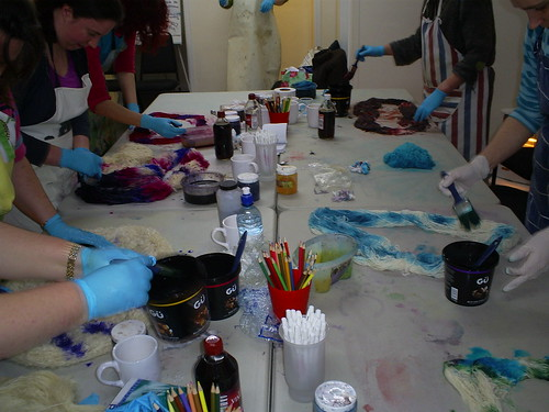 Fyberspates Dyeing Day
