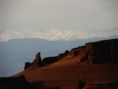 Snowy Mountains over the Desert photo by mahyar hejazi