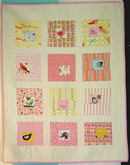 Square in Square Baby Girl Quilt photo by alissahcarlton