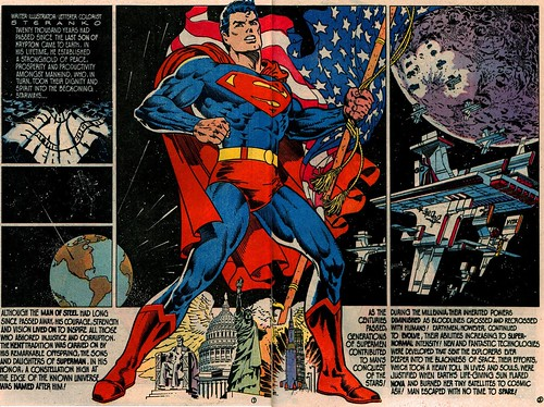 Superman 400 patriotic splash by Jim Steranko