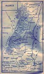1945 - Alsace  -ouvrage 1ere armée en Alsace