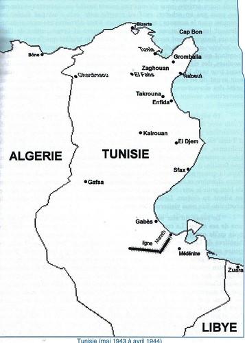 1943- Tunisie - carte - crédit ill  André Audibert