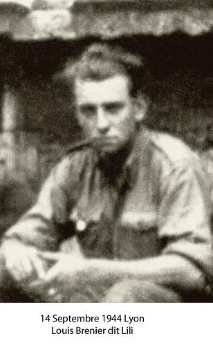 BM4- Chambarand - 1944 14 Septembre -Lyon- Louis Brenier dit Lili - Fonds Emile Gauthier