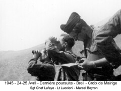 BM 4 Chambarand - 1945 24-25 Avril_Breil_Croix de Mairige_Lt_Luccioni et M Beyron -  Col. Emile Gauthier