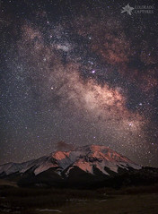 Lunar Alpenglow And Milky Way Skies At West Spanish Peak photo by Mike Berenson - Colorado Captures