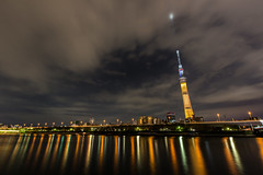 Tokyo Skytree (2020 Olympic election campaign illumination) photo by nakajimalassie