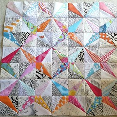 Pillow top pieced and ready for quilting...check. The next question is...how to quilt?? photo by cce181