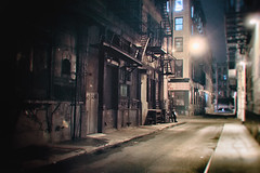 New York City - Night- Alley and Fire Escapes photo by Vivienne Gucwa
