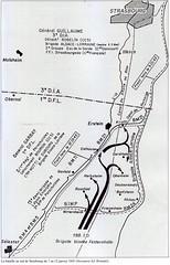 carte bataille sud de strasbourg 7 -12 janvier 45 - Les combats d'Herbsheim par Zicchina