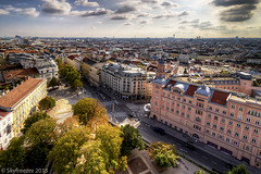 Streets of Vienna from above photo by Skyfreezer