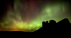Duffus Castle Aurora photo by Andrew Paul Watson