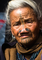 Old Apatani lady photo by rob of rochdale