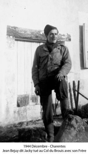 BM 4- Chambarand -1944 Decembre- Charentes - Jacky Bejuy Tué au Fort de Brouis avec son frère - Fonds Emile Gauthier