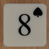 Playing Card Tile 8 of Spades