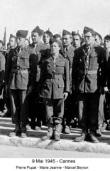 BM 4 Chambarand - 1945 9 Mai  Cannes Pierre Pupat Marie-Jeanne Marcel Beyron  - Col. Emile Gauthier