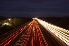 Car Lights - A14 photo by photowarrington