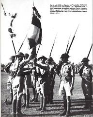 BIM - 1940 - Aout 16 - Egypte -Gourvez et  drapeau du  BIM 16 aout40