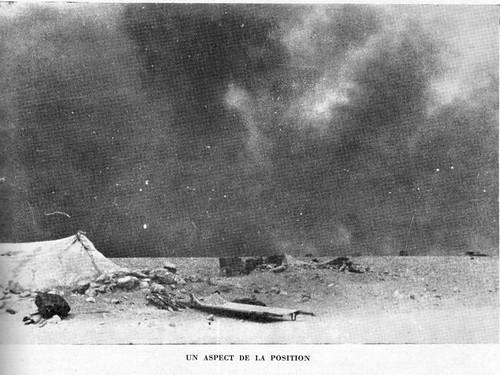 1942- Bir Hakeim -Un aspect de la position - source : RFL 19 juin 49