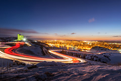 Signal hill light trail, St. John's photo by tuanland