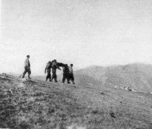 Santé- Authion 1945 printemps -  pendant des heures on brancadre