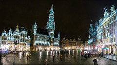 Grand place by night photo by Timos L