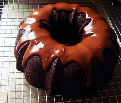 Chocolate Root Beer Bundt with Glaze