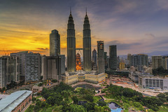 Golden Sunset | Kuala Lumpur | HDR photo by Mohamad Zaidi Photography