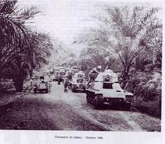 1940- Afrique - Campagne du Gabon-  chars