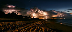Lightning strike on Varadero beach in Cuba photo by Glenn 07