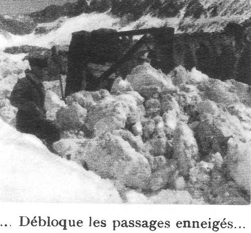 Génie- Authion 1945 printemps - le Génie débloque les passages enneigés