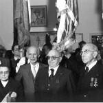 Edmond Magendie- Lorotte- Raphaël Folliot-et-jules-murraciole-remise-du-drapeau-du-1er-bim-à-la-chancellerie-en-1977- Crédit photo : Jérôme Kerfech