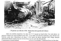 Alsace-  janvier 45 poche de Colmar