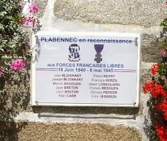 Plabennec- Plaque Jean Bleinhant du BM XI