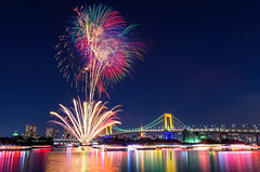 Odaiba Rainbow Fireworks 2013 photo by 45tmr
