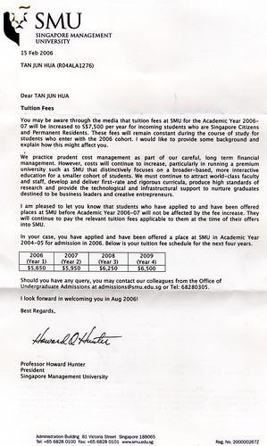 SMU letter