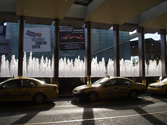 taxis and pillars