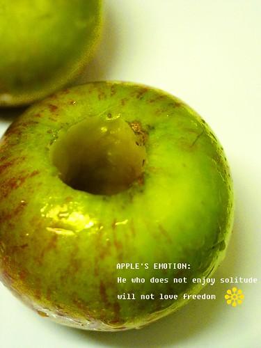 香烤蘋果去核