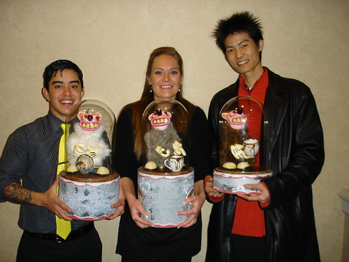 The medals podium at WRBC 2006; L to R: Gabe, Heather, and Eton