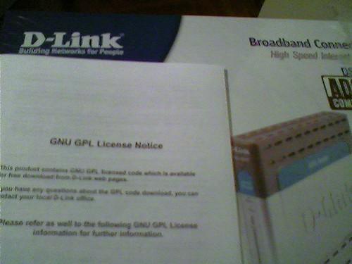 Router D-Link y su licencia GPL