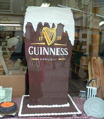 cake in the shape of a giant pink of Guinness (c) Kristen Bailey 2006