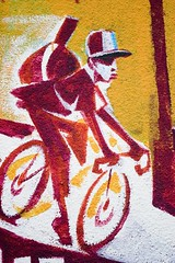 Bicycle messenger graphic. Links to Flickr.com.