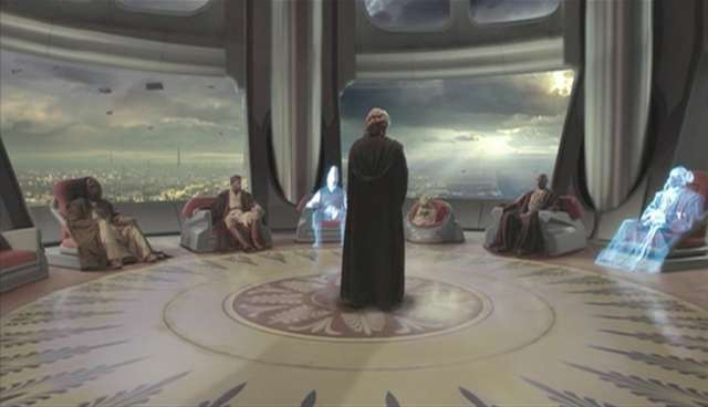 Anakin in Jedi Council
