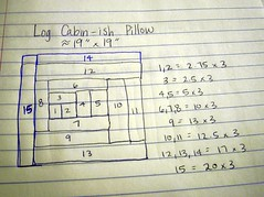 Log Cabin-ish Pillow Instructions