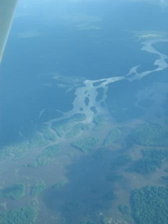 view of river from plane