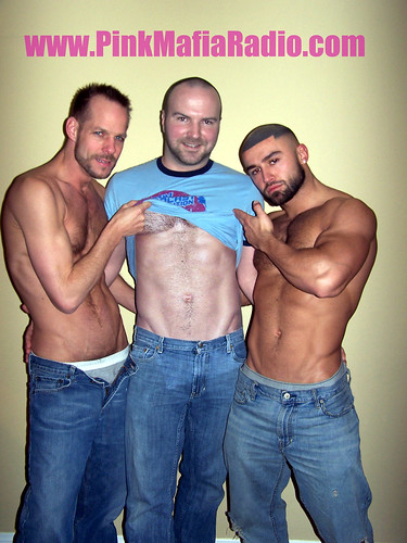 Michael Brandon, Steven, and Francois Sagat