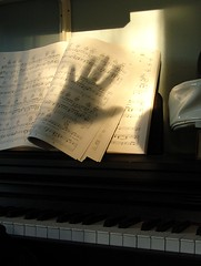 my piano, my hand, music photo by zen