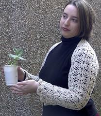 I Do pose with plant