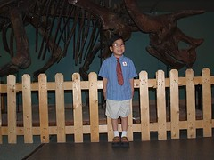 JT and dinosaur bones
