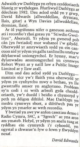 Dwy erthygl, un Saesneg ac un Gymraeg, o gylchgrawn Ysgol Uwchradd Aberteifi.
